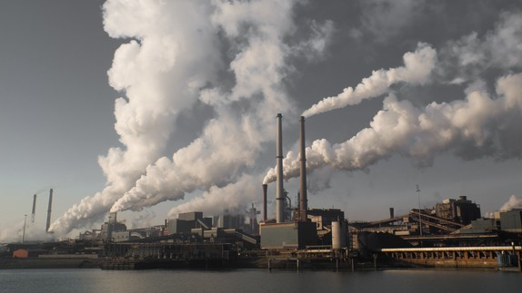 smoke from fossil fuel production