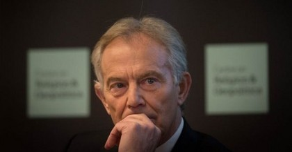In his remarks, Blair was firm in his calling for the British military to engage in another ground war in Iraq. (Photo: Stefan Rousseau/AP)