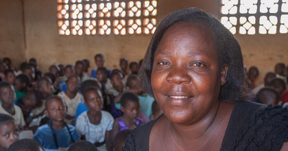 "Stella, a teacher in Lilongwe, Malawi, says: ""I pay almost 17,000 kw (US$23) in tax every month and then when I go to the shops and I buy a packet of sugar or a tablet of soap I have to pay VAT. Big companies have to start paying as well."" (Photo: ActionAid)"