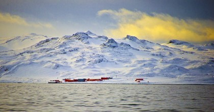 View of China's military base in the King George island, in Antarctica, on March 13, 2014. (Photo: Vanderlei Almeida/AFP/Getty Images)