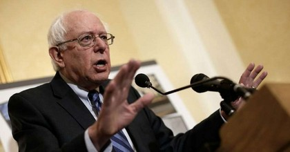 Sen. Bernie Sanders (I-Vt.) speaks at a news conference. (Photo: Win McNamee/Getty Images)