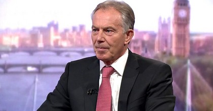 Tony Blair speaks with the BBC's Andrew Marr on Sunday. (Screenshot)