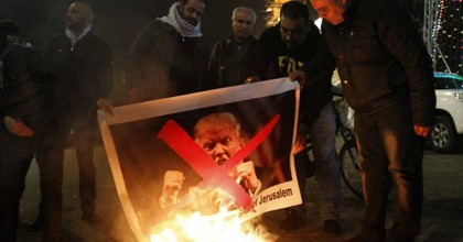 """""""The peace process is finished,"""" Palestinian official Hanan Ashrawi said in response to Trump's plans. (Photo: Musa Al Shaer/AFP)"""
