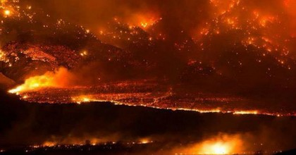 Two massive fires in California forced thousands of evacuations over the weekend and continue to rage into Monday. (Photo: AP)
