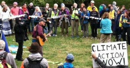 Marchers rallying in DC after completing a 3000 mile cross-country journey. (Photo: ClimateMarch.org)