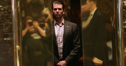 Donald Trump Jr. arrives at Trump Tower in New York City in this file photo. The president's son is under fire for meeting with a Kremlin-connected lawyer during the campaign. (Photo: John Moore/Getty Images)