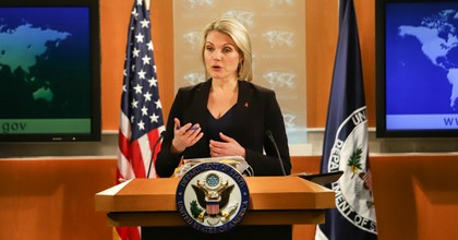 U.S. Department of State spokesperson Heather Nauert speaks in the press briefing room at the Department of State on November 30, 2017 in Washington, D.C. (Photo: Alex Wroblewski/Getty Images)
