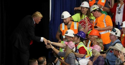 President Donald Trump greets supporters during a campaign rally at Four Seasons Arena on July 5, 2018 in Great Falls, Montana. (Photo: Justin Sullivan/Getty Images)