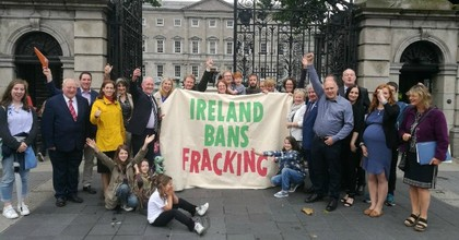 Both houses of the Irish parliament have now passed legislation calling for a ban on onshore fracking, making a full ban days away. (Photo: @Love_Leitrim)