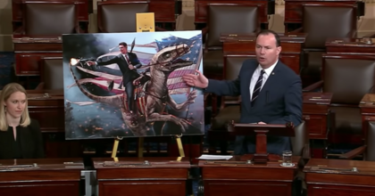 Utah Senator Mike Lee delivers remarks on climate change. (Photo: screenshot CSPAN)