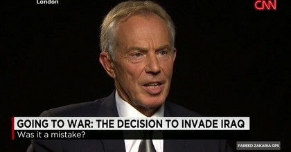 Tony Blair Admits Iraq Invasion's Role in Rise of ISIS