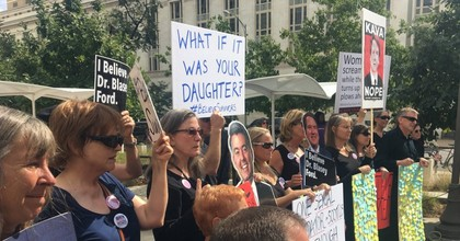 Protests across the country resulted in the Senate calling for an FBI investigation into sexual assault allegations against Brett Kavanaugh—but until Monday the probe was expected to be very limited in scope. (Photo: @EmilyAReports/Twitter)