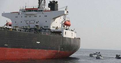 The Al Marzoqah oil tanker on Monday, a day after it was attacked outside the Fujairah port in the United Arab Emirates. (Photo: EPA-EFE)