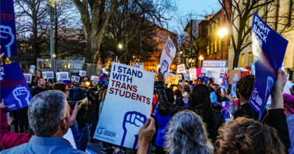 Students, parents, and advocates for LGTBQ rights gather in Washington, D.C. to protest the Trump administration's attacks on transgender people. (Photo: Ted Eytan/Flickr/cc)