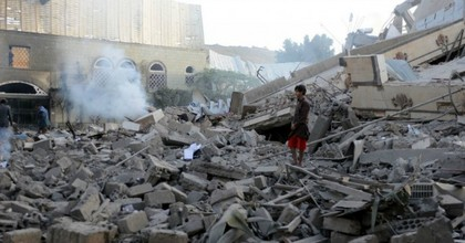 """The New York Times reported Wednesday that """"while Saudi or Emirati pilots usually pull the trigger in raids on Yemen, the United States provides the warplanes, munitions, and intelligence used in many of those strikes"""" that have killed thousands of Yemeni civilians. (Photo: Mohammed Hamoud/Getty Images)"""