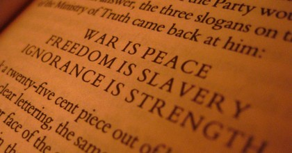 An excerpt from George Orwell's dystopian novel 1984. (Photo: Jason Ilagan/Flickr/cc)