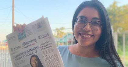 Jessica Cisneros, who is running in the 2020 primary to replace Rep. Henry Cuellar (D-Texas.), was endorsed by Rep. Alexandria Ocaasio-Cortez (D-N.Y.) on Tuesday. (Image: Jessica Cisneros, Twitter)
