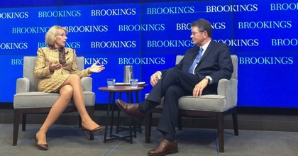 Education Secretary Betsy DeVos at the Brookings Institution on Wednesday. (Photo: AP)