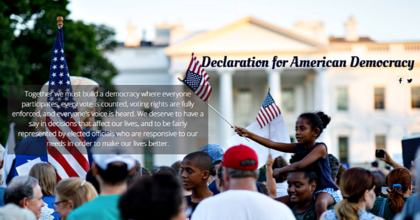 The Declaration for American Democracy, a coalition of 100+ national groups committed to fundemental reforms in the U.S. political system, will officially launch its campaign the day after this year's upcoming midterm elections. (Photo: declarationforamericandemocracy.org)