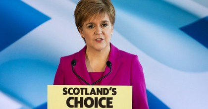 First Minister Nicola Sturgeon delivers a speech to the media at Dynamic Earth, Edinburgh, after the SNP won 47 seats, up from the 35 they won two years ago, making it the party's second best Westminster result ever. (Photo: Jane Barlow/PA Images via Getty Images)