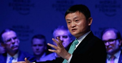 """In the past 30 years, America had 13 wars spending $2 trillion,"" said Alibaba founder Jack Ma. ""What if the money was spent on the Midwest of the United States?""(Photo via CNBC)"