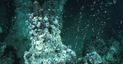 Researchers capture methane leaking from the seafloor in the Arctic. (Photo: National Academy of Sciences)