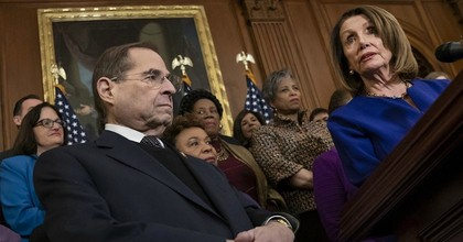 House Speaker Nancy Pelosi (D-Calif.) and House Judiciary Committee Chairman Jerry Nadler (D-N.Y.) speak at a press conference on Capitol Hill. (Photo: J. Scott Applewhite/AP)