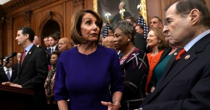 House Speaker Nancy Pelosi (D-Calif.) (C) gestures as Rep. Jerrold Nadler (D-N.Y.) looks on during a news conference at the U.S. Capitol January 4, 2019 in Washington, D.C. (Photo: Alex Wong/Getty Images)
