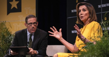 Speaker of the House of Representatives Nancy Pelosi speaks with Texas Tribune CEO Evan Smith during a panel at The Texas Tribune Festival on September 28, 2019 in Austin, Texas. (Photo: Sergio Flores/Getty Images)