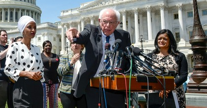 Sen. Bernie Sanders (I-Vt.) holds a news conference to discuss major college affordability legislation in Washington on Monday June 24, 2019. (Photo: Caroline Brehman/CQ Roll Call)