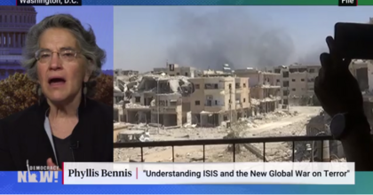 Phyllis Bennis, fellow at the Institute for Policy Studies, discusses war in Syria. (Photo: Screenshot)