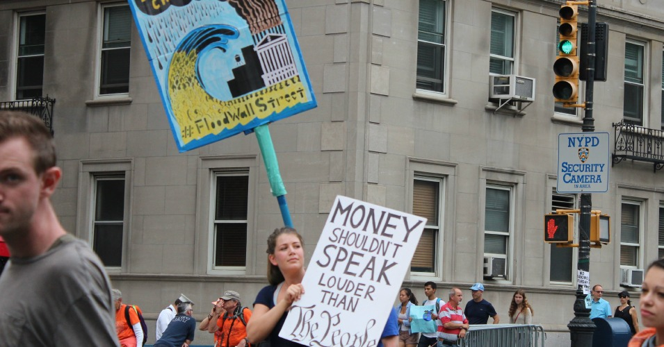 """Money Shouldn't Speak Louder Than The People"" (Common Dreams: CC BY-SA 3.0 US)"