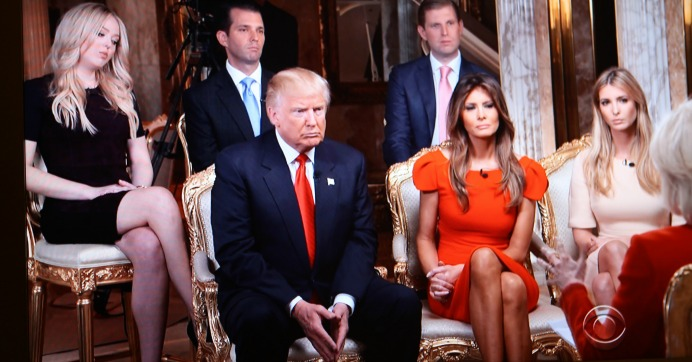 """The Trump family on """"60 Minutes."""" (Screenshot)"""