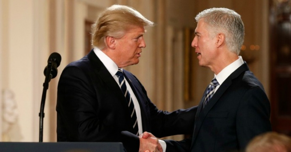 """Donald Trump is promising to reinstate torture programs and enact anti-Muslim policies that directly contradict our First Amendment freedoms,"" warns People for the American Way. ""And he wants Neil Gorsuch to help him do it."" (Photo: Reuters)"