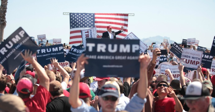 """Republicans' increasing mistrust of the democratic system is due to Trump's """"candidate effect,"""" a voting expert told Reuters. (Photo: Gage Skidmore/flickr/cc)"""