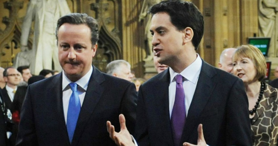 Prime Minister David Cameron and Labour party leader Ed Miliband face off on Thursday in one of the tightest elections in decades. (Photo: PA)
