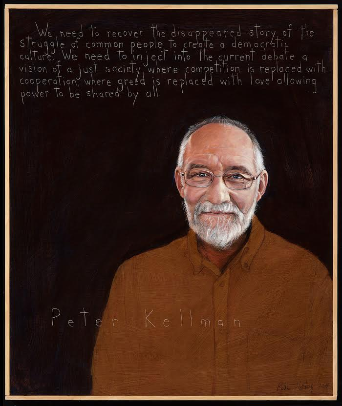 Portrait of Peter Kellman by Robert Shetterly. (Credit: AmericansWhoTelltheTruth.org)