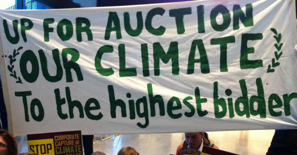 Climate justice advocates say heavy role of private sector in upcoming Paris climate negotiations is a sign that the conference has already been taken over by corporations. (Photo: International Journal of Socialist Renewal)