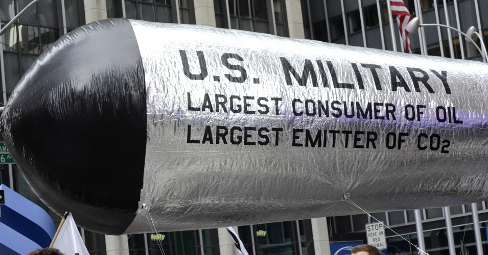 Demonstrators highlighted the enormous and negative impact of the U.S. military during the 2014 People's Climate March in New York City. (Photo: Stephen Melkisethian/flickr/cc)