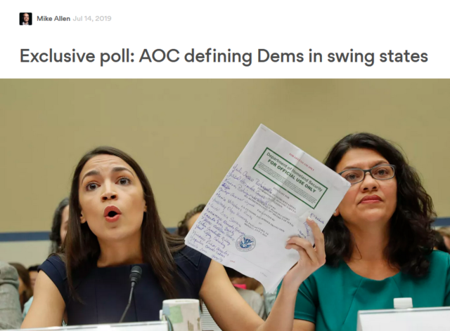 "The poll reported by Axios (7/14/19) was ""exclusive""—because nobody besides Axios knew who conducted it."