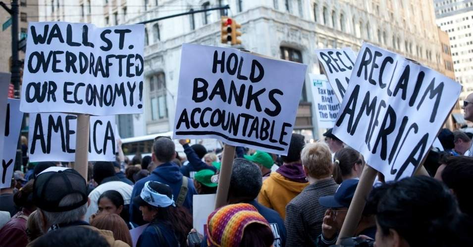 """At a time when the likes of Wells Fargo and Equifax demonstrate that Wall Street needs stronger reforms, Senate banking leaders are proposing to grind holes in key existing safeguards,"" Bartlett Naylor, financial policy advocate for Public Citizen, said in a statement. (Photo: Jens Schott Knudsen/Flickr/cc)"