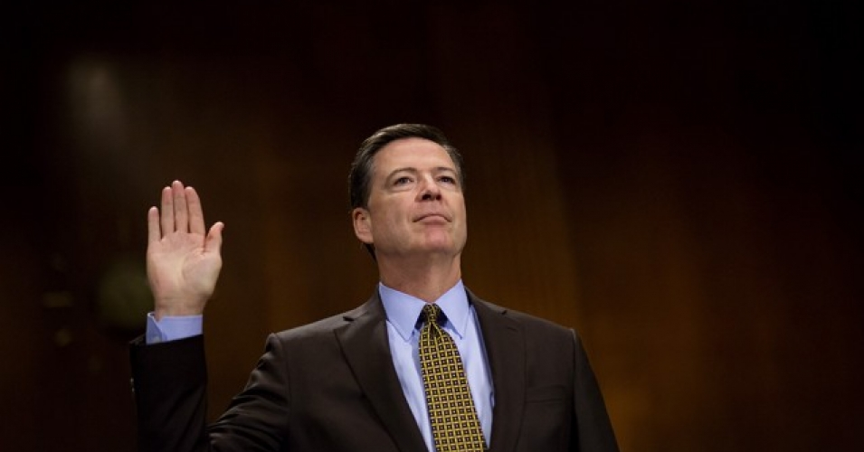 "Reports indicate James Comey, the former director of the FBI who was summarily fired by President Trump this week, ""is willing to testify, but wants it to be in public."" (Photo: Getty)"