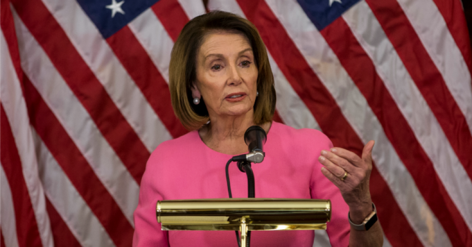 House Minority Leader Nancy Pelosi (D-Calif.) holds a news conference following the 2018 midterm elections at the Capitol Building on November 7, 2018 in Washington, D.C. (Photo: Zach Gibson/Getty Images)