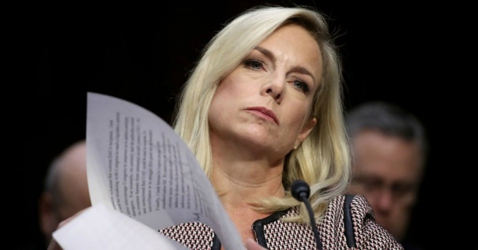 Homeland Security Secretary Kirstjen Nielsen testifies during a hearing held by the Senate Judiciary Committee on January 16, 2018 in Washington, D.C. (Photo: Win McNamee/Getty Images)