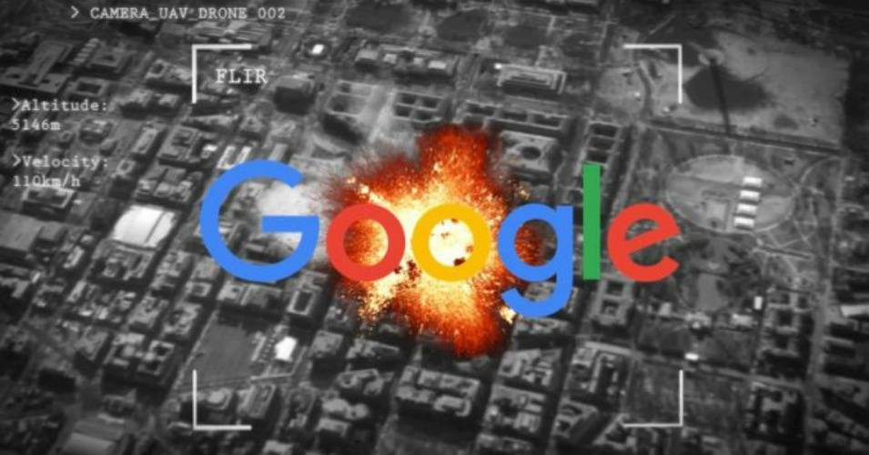 More than 3,000 Google employees have demanded that their company end its involvement in a Pentagon contract to analyze imagery, potentially to improve the targeting of drone strikes. (Photo: yournewswire.com)