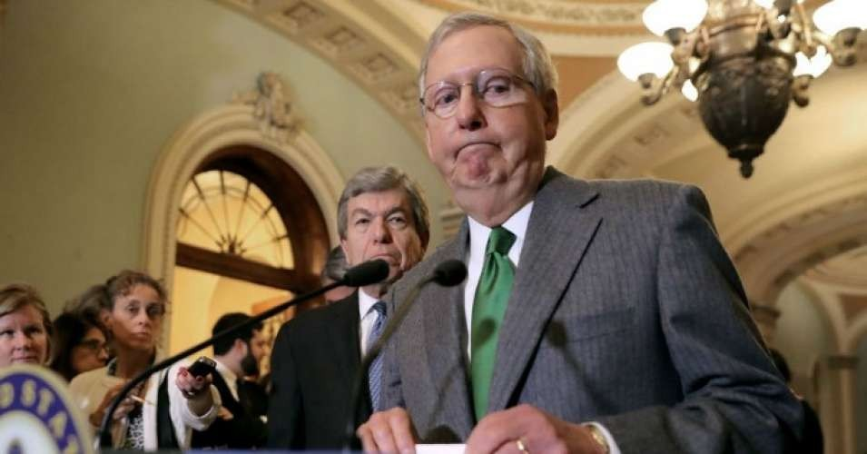 Senate Majority Leader Mitch McConnell (R-Ky.) has refused to hold a vote in recent weeks on bills that would reopen the government, but on Thursday called a vote on a extreme anti-choice bill. (Photo: Chip Somodevilla/Getty Images)