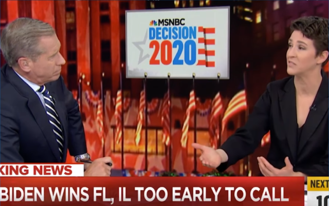 "Brian Williams tells Rachel Maddow (MSNBC, 3/17/20) she is ""so right"" to say that Bernie Sanders withdrawing from the race would make the entire primary process unnecessary."