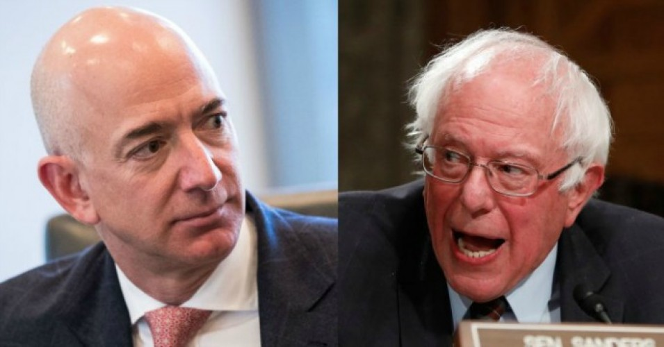"""The American taxpayer should not be subsidizing the richest people in history so they can underpay their employees,"" Sen. Bernie Sanders (I-Vt.) wrote on Wednesday. (Photos: Getty Images)"