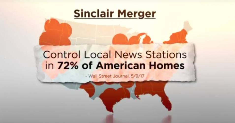 The week-long advertisement campaign by Allied Progress will run on four Sinclair-owned stations. (Photo: Allied Progress/YouTube)