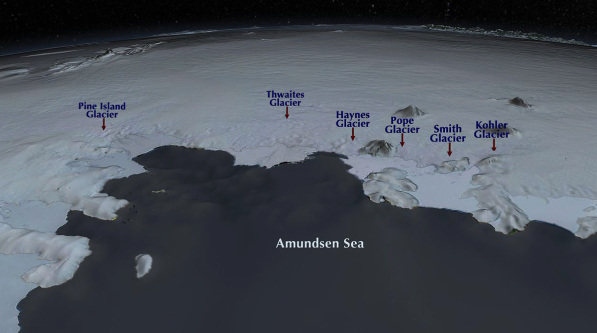 Antarctic ice sheets. Photo courtesy of NASA.